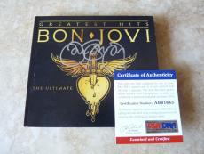 JON BON JOVI Greatest Hits Ultimate Autographed Signed CD Cover PSA Certified