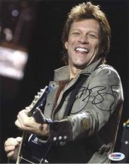 Jon Bon Jovi Live w/ Guitar  Autographed Signed 8x10 Photo Certified PSA/DNA COA