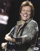 Jon Bon Jovi Live w/ Guitar  Autographed Signed 8x10 Photo Certified PSA/DNA COA