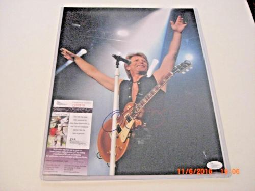 Jon Bon Jovi Living On A Prayer Famous Musician Jsa/coa Signed 11x14 Photo