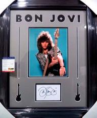 Jon Bon Jovi Music Legend Psa/dna Coa Signed Autograph Double Matted & Framed A