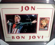 Jon Bon Jovi Music Legend Psa/dna Coa Signed Autograph Double Matted & Framed B