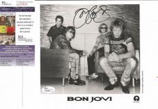 Jon Bon Jovi Music Legend Signed Autographed 8x10 B/w Promo Photo Jsa Coa Rare