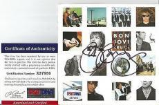 """Jon Bon Jovi Music Legend Signed Autographed """"crush"""" Cd Booklet Psa/dna Coa Rare"""