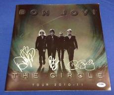 Jon Bon Jovi Richie Sambora David Bryan signed The Circle Tour Program PSADNA