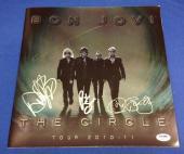 Jon Bon Jovi Richie Sambora David Bryan Signed *The Circle Tour Program PSA/DNA