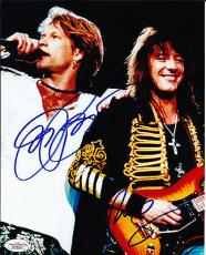 Jon Bon Jovi Richie Sambora dual Signed 8x10 Photo PSA DNA LOA JSA COA LOA