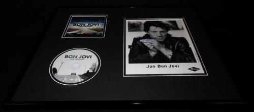 Jon Bon Jovi Signed Framed 16x20 Lost Highway CD & Photo Display