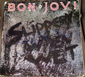 "Jon Bon Jovi Signed Full Name Autograph Original ""slippery When Wet"" Album Vinyl"