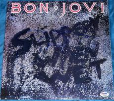"Jon Bon Jovi Signed Full Name Autograph ""slippery When Wet"" Album Psa/dna W94466"