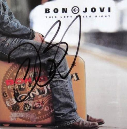 "Jon Bon Jovi Signed ""This Left Feels Right"" CD NEW COA"