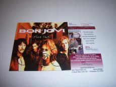 Jon Bon Jovi These Days,legendary Singer Jsa/coa Signed Cd Cover