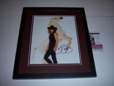 Jon Bon Jovi W/white Horse Jsa/coa Signed And Framed 11x14 Photo