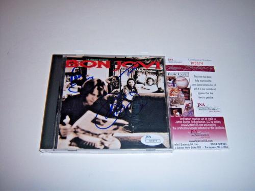 Jon Bon Jovi,richie Sambora,tico Torres Crossroad Jsa/coa Signed Cd Cover
