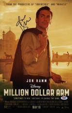 Jon Hamm Signed Million Dollar Arm 11x17 Movie Poster Psa Coa Ad48098