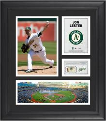 Jon Lester Oakland Athletics Framed 15'' x 17'' Collage with Piece of Game-Used Ball