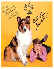 "JON PROVOST - TIMMY MARTIN on ""LASSIE"" Promo Is From the 50's = Signed 8x10 Color Paper Thin"