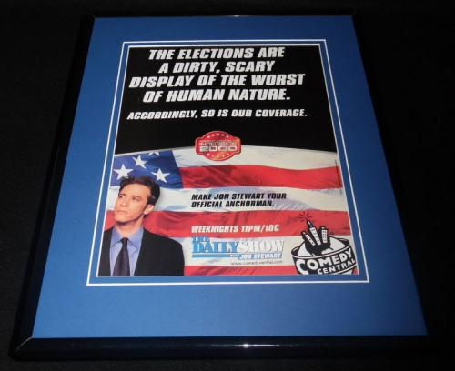 Jon Stewart Indecision 2000 Framed 11x14 ORIGINAL Advertisement Daily Show C