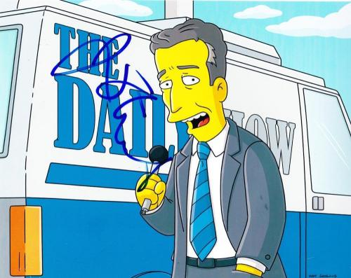 Jon Stewart Signed 8x10 Photo The Simpsons Daily Show Authentic Autograph Coa