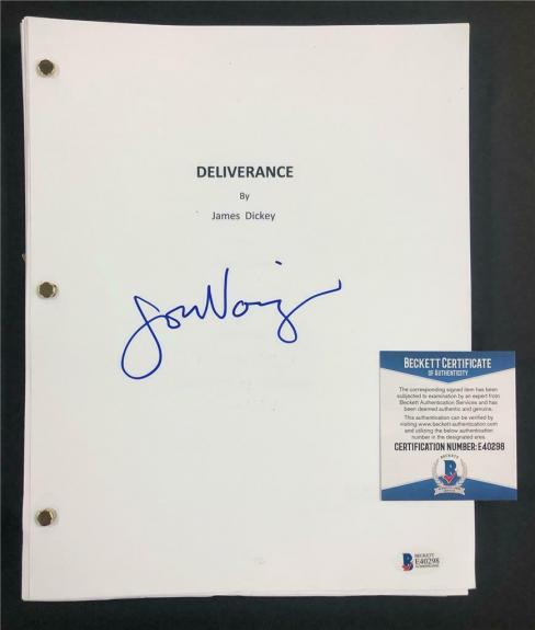 JON VOIGHT autograph signed DELIVERANCE Full Movie Script ~ Beckett BAS COA