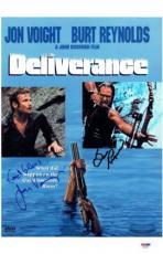 Jon Voight & Burt Reynolds Signed Deliverance 11x17 Movie Poster PSA/DNA #X06651
