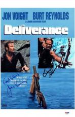 Jon Voight & Burt Reynolds Signed Deliverance 11x17 Movie Poster PSA/DNA #X06651
