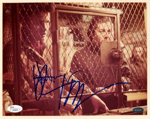 "Jon Voight & Dustin Hoffman Autographed 8"" x 10"" Midnight Cowboy Both Behind Cage Photograph - JSA"