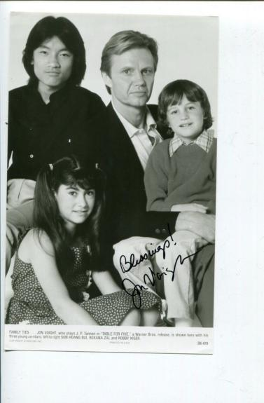 Jon Voight Table For Five Midnight Cowboy Star Signed Autograph Photo