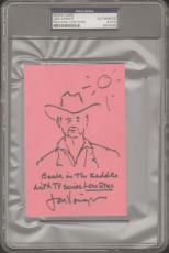 JON VOIGHT Signed Autographed Index Card Sketch PSA/DNA SLABBED #M54596