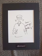 Jon Voight Signed Autographed Matted 11x14 Peace Sign Sketch PSA Certified