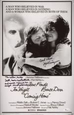 Jon Voight Signed Coming Home 11x17 Movie Poster W/inscriptions Jsa Coa N37883