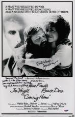 Jon Voight Signed Coming Home 11x17 Movie Poster W/inscriptions Psa Coa Ad48121