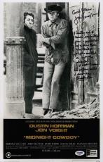 Jon Voight Signed Midnight Cowboy 11x17 Movie Poster W/inscriptions Psa Ad48122