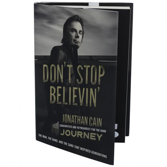 Jonathan Cain Journey Autographed Don't Stop Believin' Book - JSA