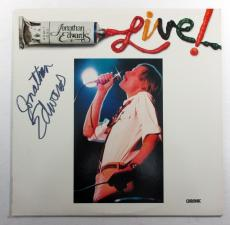 Jonathan Edwards Signed LP Record Album Live! w/ AUTO