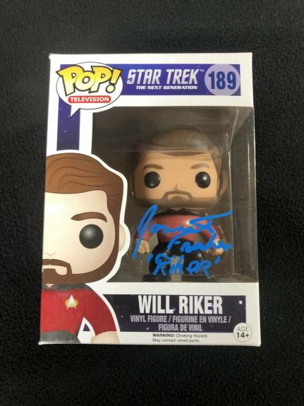 Jonathan Frakes Signed Star Trek The Next Generation Will Riker Funko Pop Figure