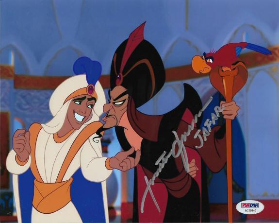 JONATHAN FREEMAN Voice of Disney's JAFAR Signed ALADDIN 8x10 AUTO PSA/DNA COA