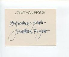 Jonathan Pryce Game of Thrones Pirates the Caribbean James Bond Signed Autograph