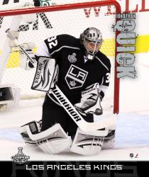 "Jonathan Quick 2012 Stanley Cup Champions Stretched 16"" x 20"" Canvas - Mounted Memories"