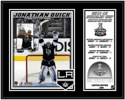 "Jonathan Quick 2012 Stanley Cup Champions Sublimated 12"" x 15"" Plaque with Game-Used Ice- Limited Edition of 200"