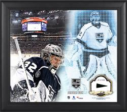 Jonathan Quick Los Angeles Kings Framed 15'' x 17'' Mosaic Collage with Piece Of Game-Used Puck-Limited Edition of 99