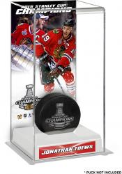 Jonathan Toews Chicago Blackhawks 2015 Stanley Cup Champions Logo Deluxe Puck Case