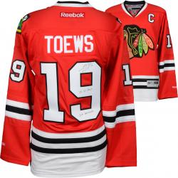 Jonathan Toews Chicago Blackhawks Autographed Red Reebok Premier Jersey with Multiple Inscriptions