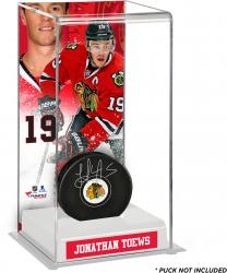 Jonathan Toews Chicago Blackhawks Deluxe Tall Hockey Puck Case