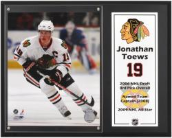 "Jonathan Toews Chicago Blackhawks Sublimated 12"" x 15"" Plaque - Mounted Memories"