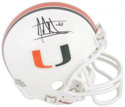 Jonathan Vilma Miami Hurricanes Autographed Mini Helmet