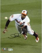 """Adam Jones Baltimore Orioles Autographed 8"""" x 10"""" Diving Catch Photograph"""