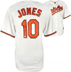 Adam Jones Baltimore Orioles Autographed Home White Replica Jersey - Mounted Memories  - Mounted Memories