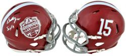 Barrett Jones Alabama Crimson Tide 2012 BCS Champions Autographed Mini Helmet - Mounted Memories