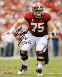 Barrett Jones Alabama Crimson Tide Autographed 8'' x 10'' with Inscription 'Jos 1:9' Standing Photograph - Mounted Memories